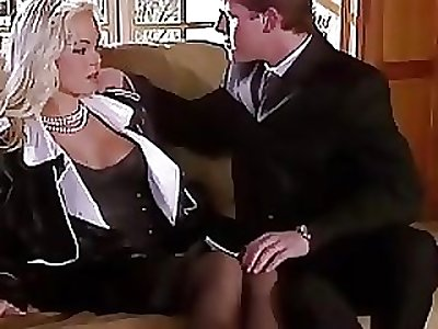 Silvia Saint Fucks get under one's Lawyer and Drains His Cum
