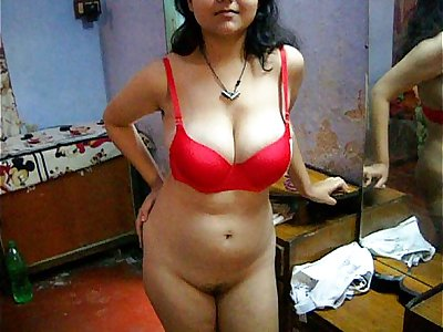 Bengali Indian Bhabhi Stellar Savita In Red Lingerie