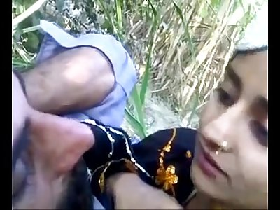 desi boy with beautifull teen outdoor