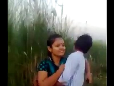 Desi Couple Romance And Smooching In Fields Outdoor