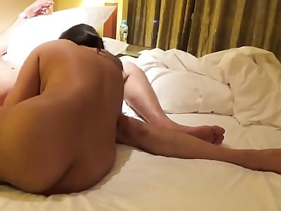 Desi Indian Huge-titted Wife Blowjob and Humped in Rear end